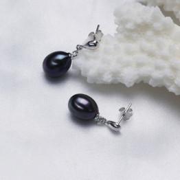100% genuine freshwater pearl earrings 100% 925 sterling silver earrings for women earring fashion earrings  with gift
