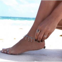 2017 Anklets Tornozeleira Boho Women Ankle Bracelet Pulseras Flower Design Foot Chain Tornozele Turkish Indian Anklet Jewelry x1