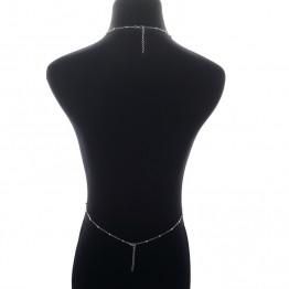 2017 Fashion Gold Silver Color Body Chain Multilayer Sexy Beach Bikini Harness Crystal Tassel Necklace Women Bralette Jewelry