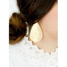 2017 Hot New Brand Designer Inspired Metallic Teardrop Dangle Drop Earrings for Women Brass Gold Silver Leaves Drop Earrings