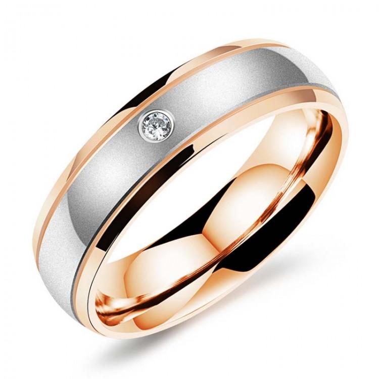 2017 fashion Black Rose Gold color Stainless Steel Korean love ...
