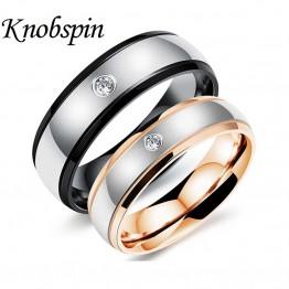 2017 fashion Black Rose Gold color Stainless Steel Korean love Rings for Men Women Engagement Anniversary Lovers jewellery