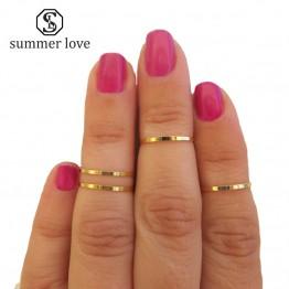 Mini gold silver color finger rings fashion celebrity designer jewelry for women girls 2017 bagues phalange femme 4 pcs/lot
